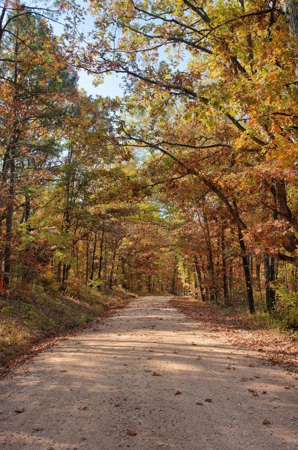валы проселочной дороги осени стоковое изображение