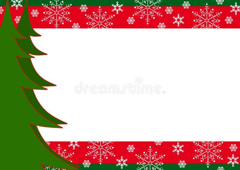 валы снежинок рождества граници иллюстрация вектора