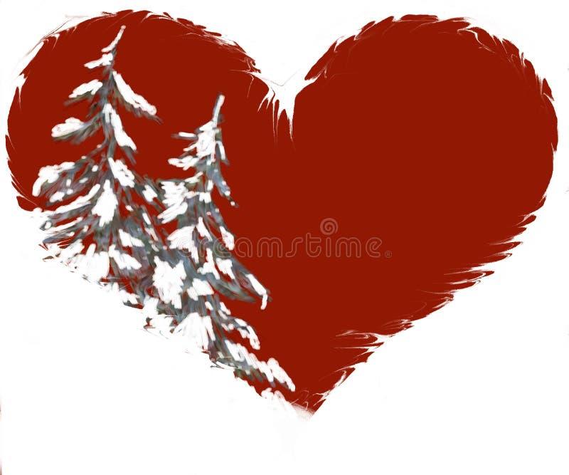 валы формы сосенки иллюстрации сердца снежные бесплатная иллюстрация