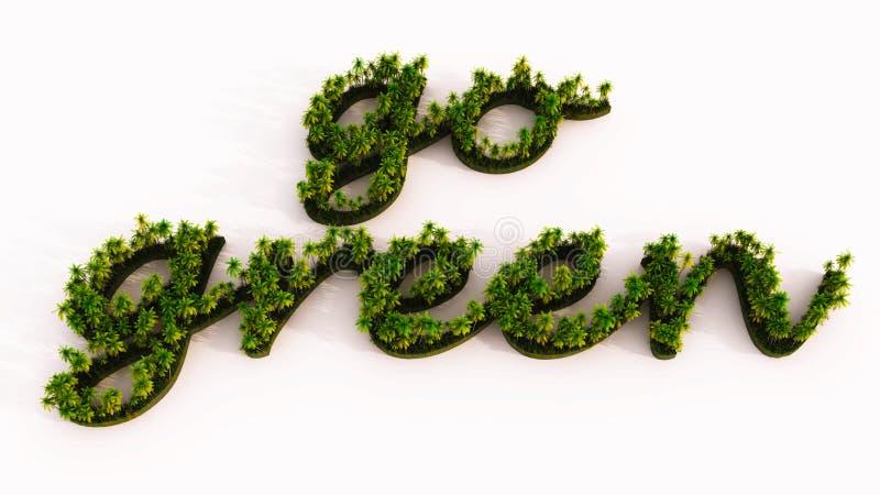 валы eco зеленые иллюстрация вектора