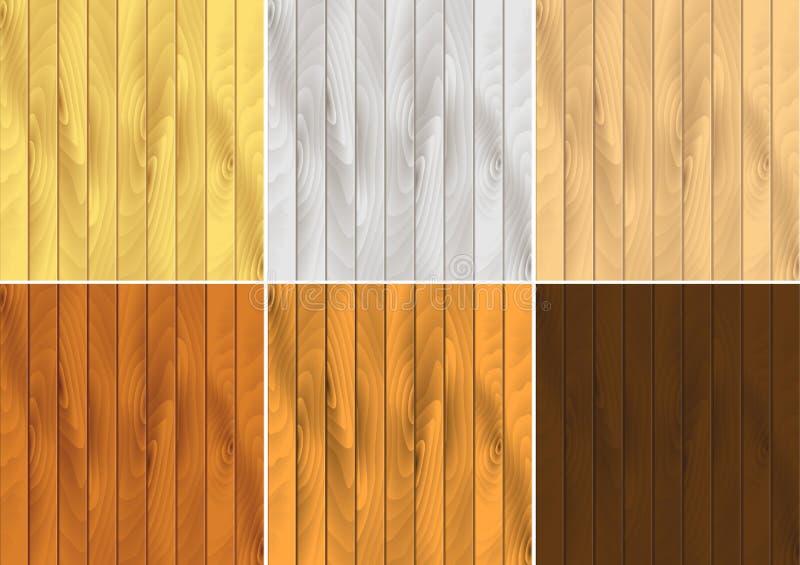 Вальцовые зерн древесины вектора иллюстрация штока