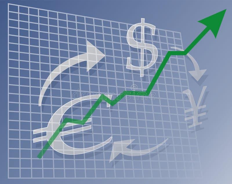 валюта диаграммы вверх иллюстрация штока