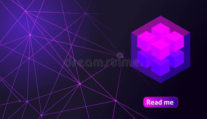 Валюта равновеликого голографического геометрического значка секретная, красочная абстрактная предпосылка Большая концепция на ша бесплатная иллюстрация