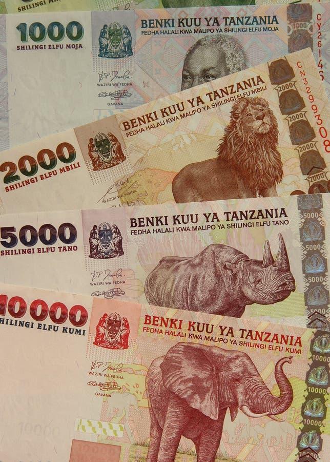 Валюта Танзания стоковые изображения
