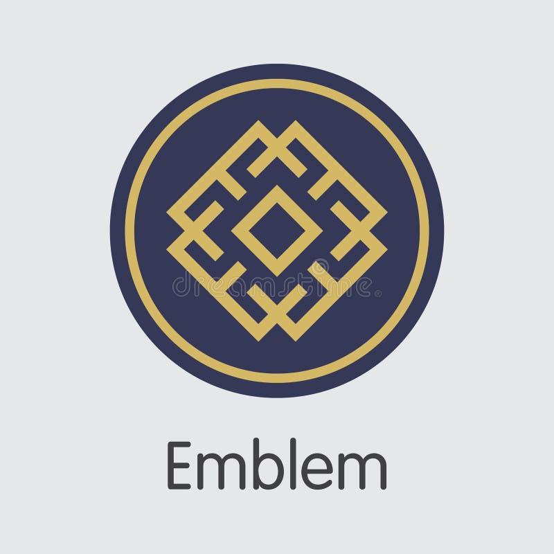 Валюта цифров эмблемы - вектор покрашенный логотип иллюстрация штока