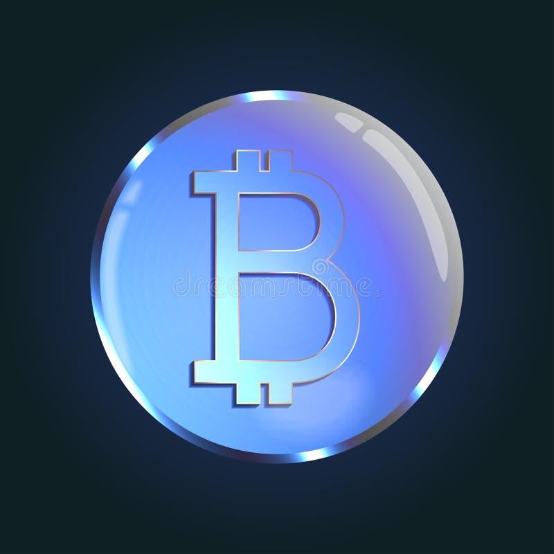 Валюта Bitcoin секретная иллюстрация вектора