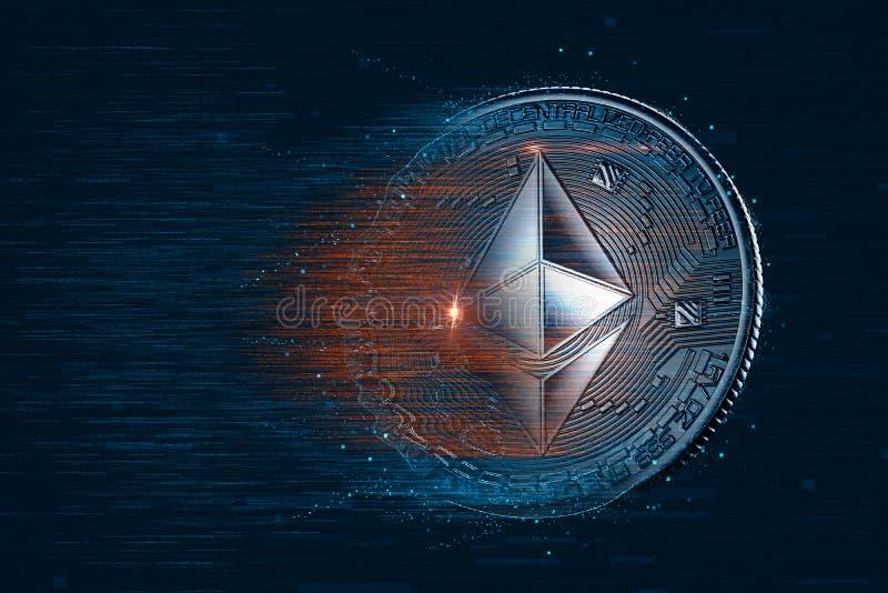 Валюта Ethereum цифровая иллюстрация 3d Содержит PA клиппирования стоковое изображение rf