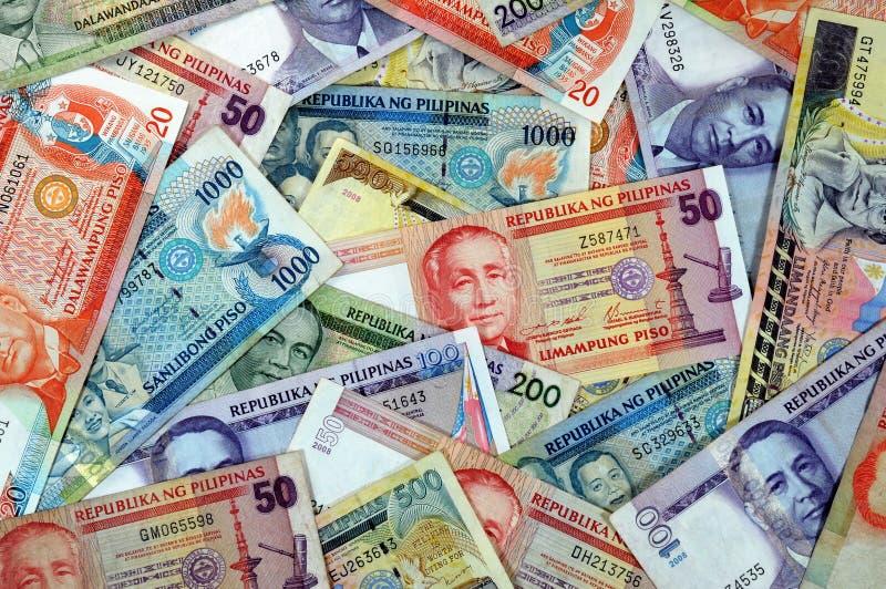 валюта philippines стоковое фото