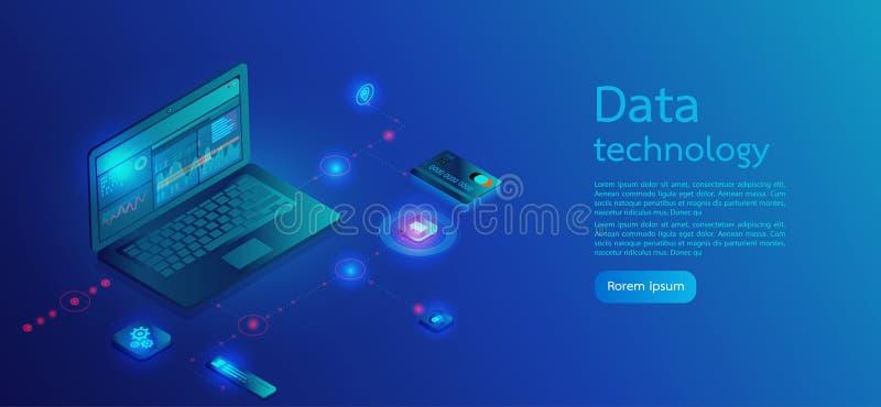Валютный рынок, вклад, финансы и торговая операция цифров Улучшите для веб-дизайна, знамени и представления Равновеликий вектор иллюстрация вектора