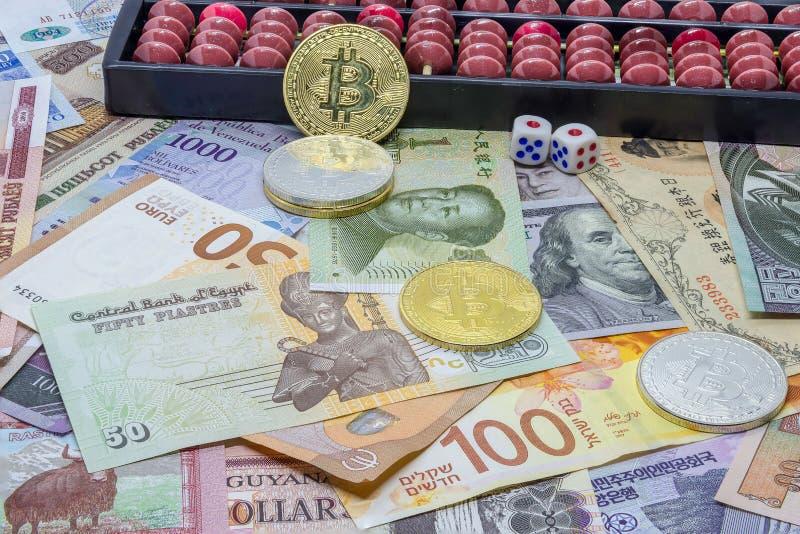 Валюты иностранной валюты - вклад или азартная игра стоковое фото