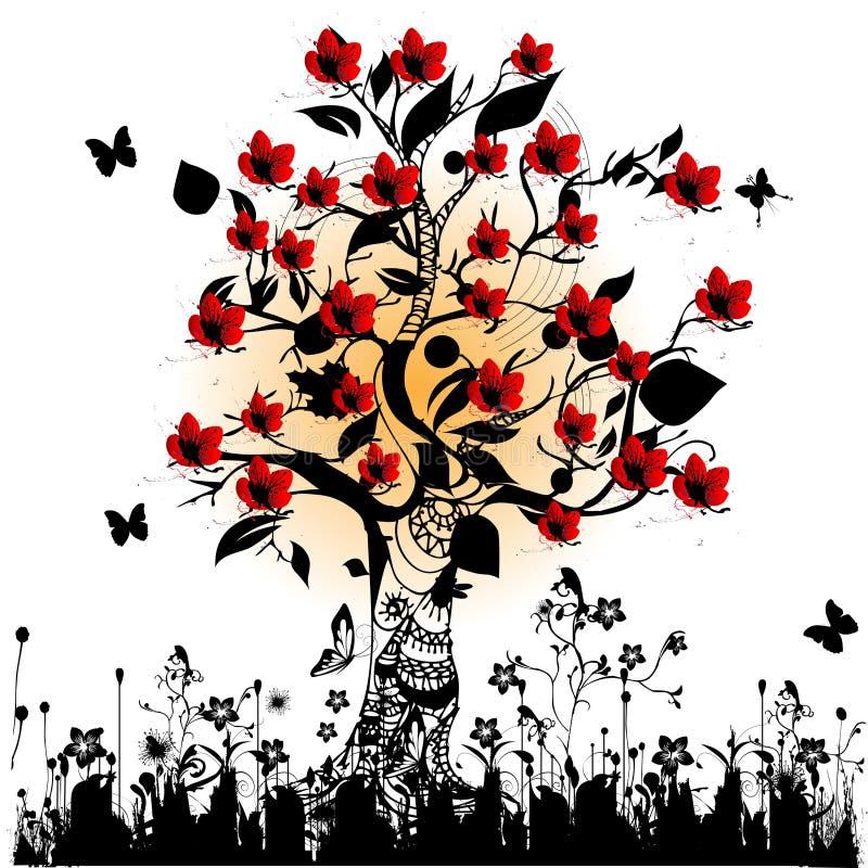 вал вишни цветения бесплатная иллюстрация