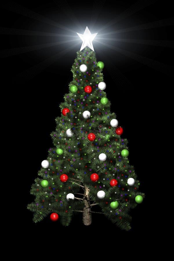 вал звезды рождества 3d иллюстрация вектора