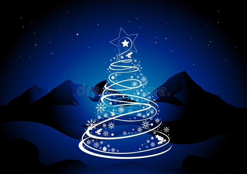 вал звезды рождества иллюстрация вектора