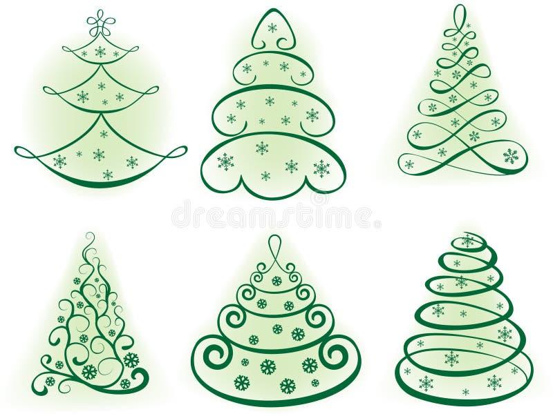 вал комплекта элементов конструкции рождества бесплатная иллюстрация