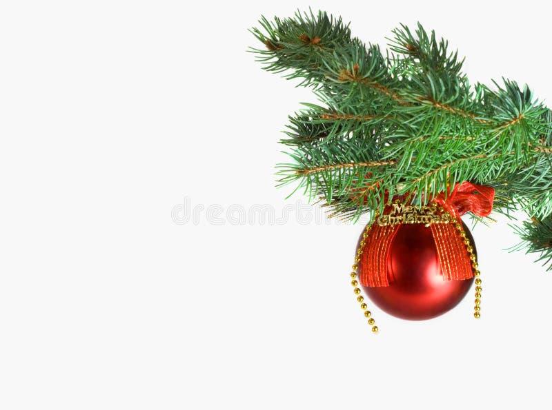 вал красного цвета зеленого цвета рождества шарика стоковое фото