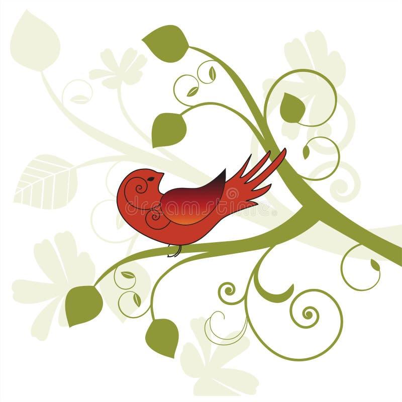 вал птицы стилизованный иллюстрация вектора