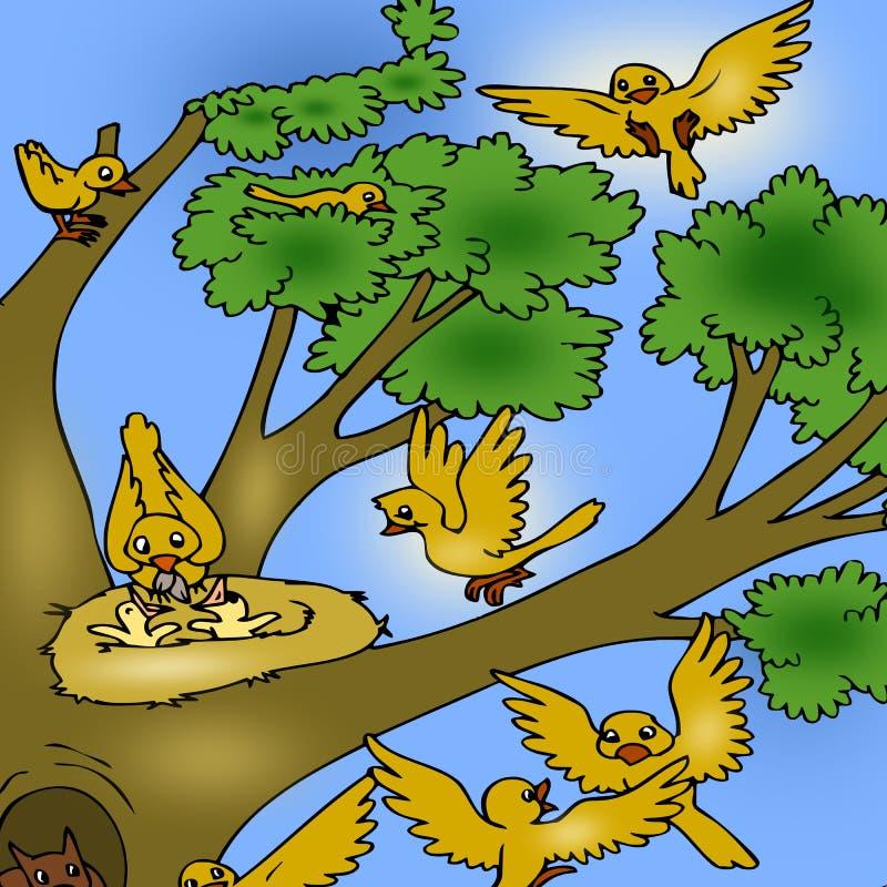 вал птиц иллюстрация штока