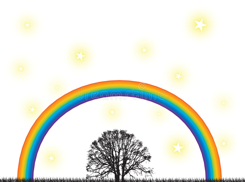 вал радуги иллюстрация штока