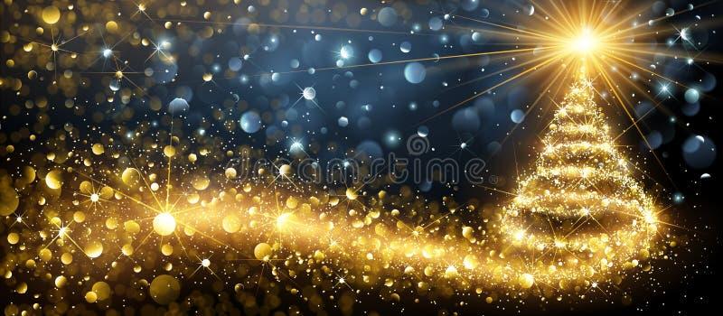 вал рождества золотистый вектор иллюстрация штока