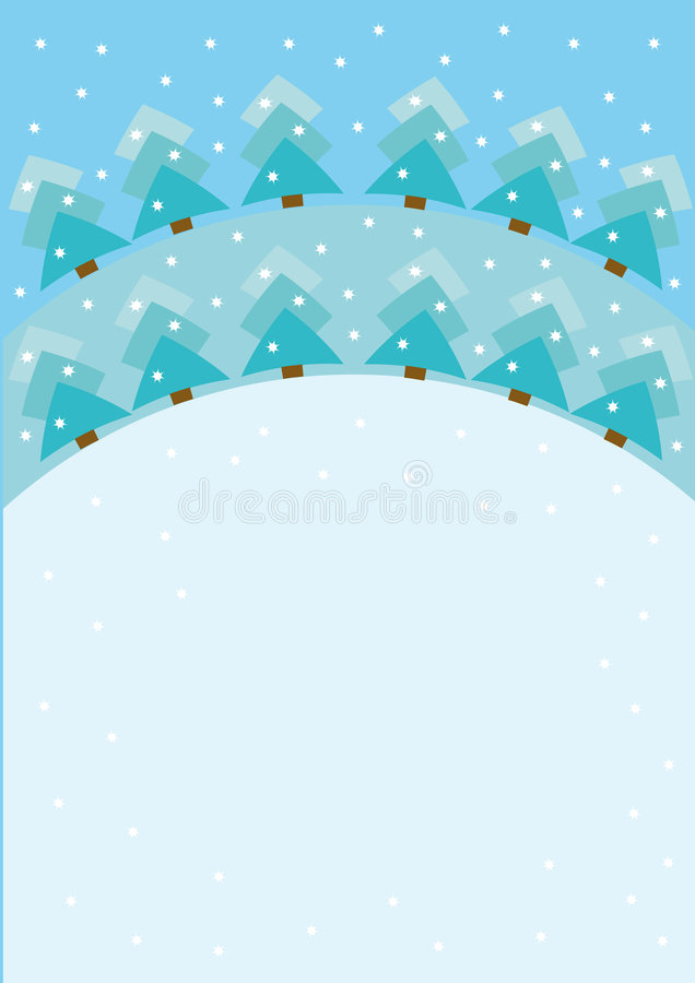 вал рождества снежный иллюстрация вектора