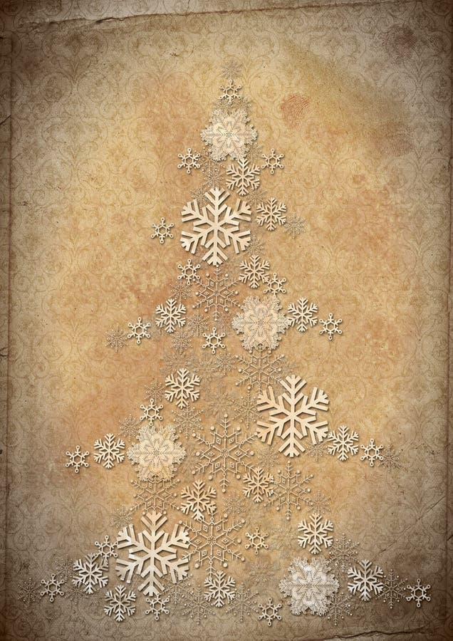 вал снежинок шерсти предпосылки ретро иллюстрация штока