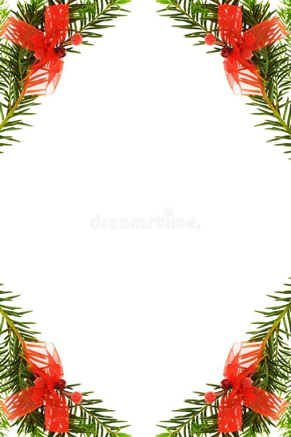 вал сосенки рождества граници праздничный стоковое изображение rf
