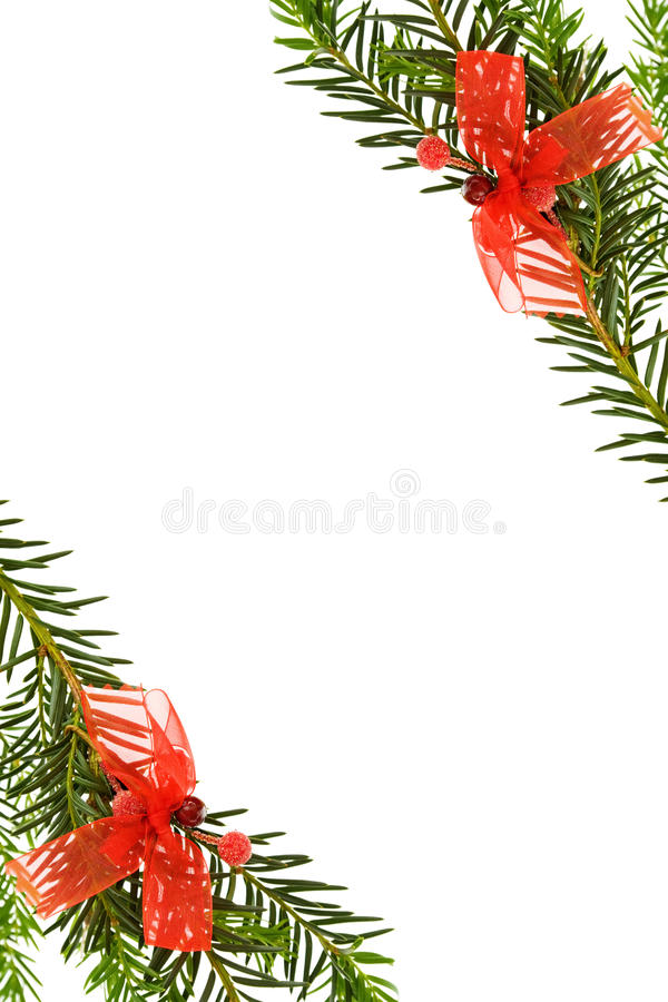 вал сосенки рождества граници праздничный стоковое изображение