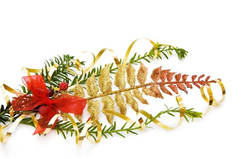 вал сосенки украшения рождества ветви стоковое изображение