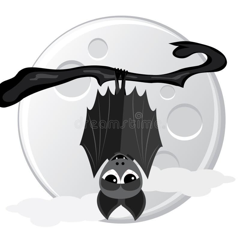 вал спать летучей мыши иллюстрация штока