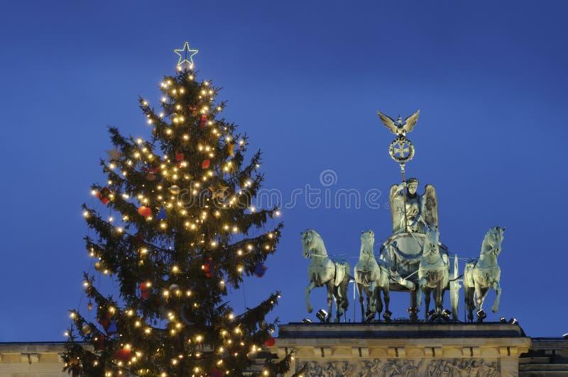вал строба рождества brandenburg стоковое изображение rf