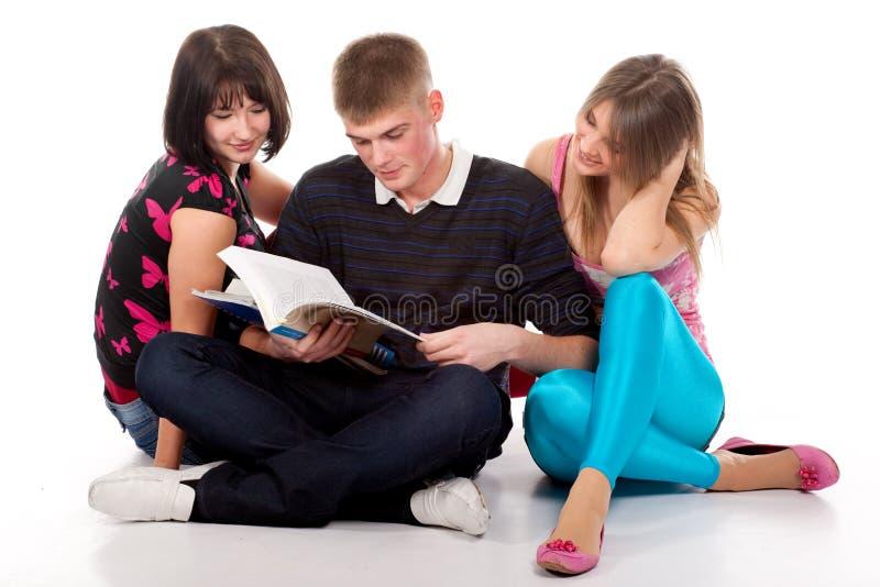 вал студентов подростковый стоковое фото