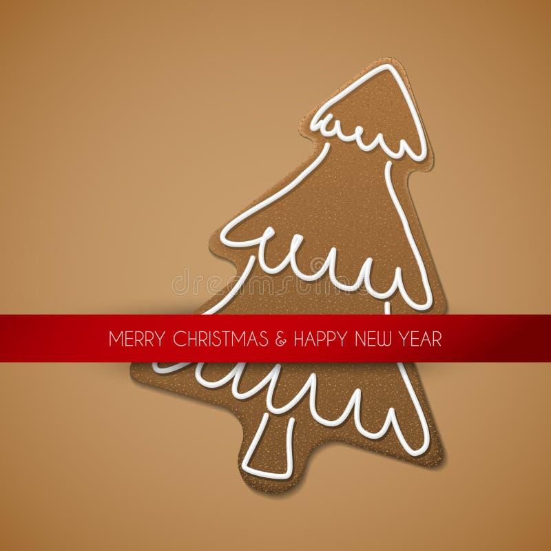 вал gingerbread рождества карточки иллюстрация вектора