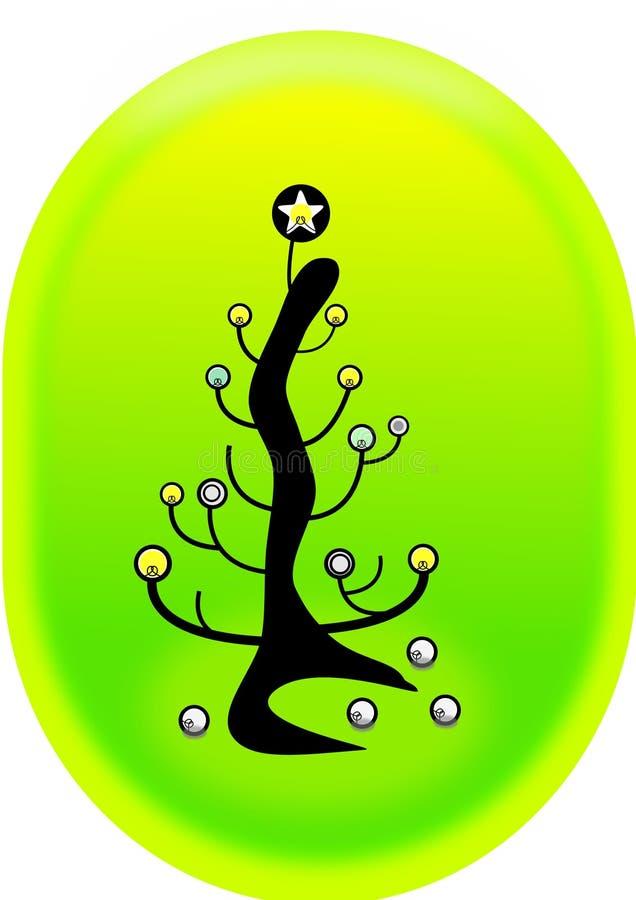 вал lightbulb рождества иллюстрация штока