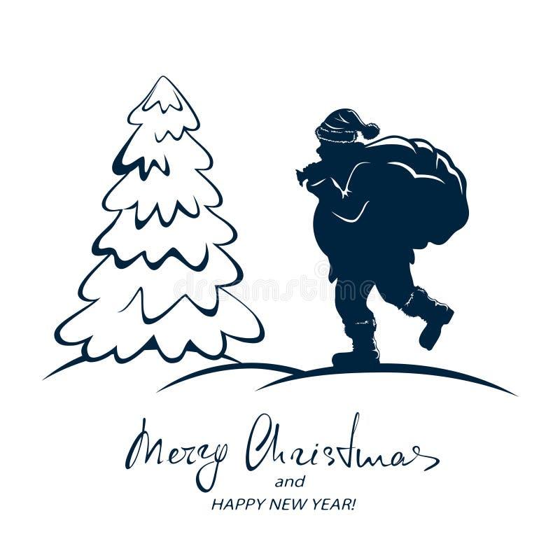 вал santa рождества иллюстрация штока