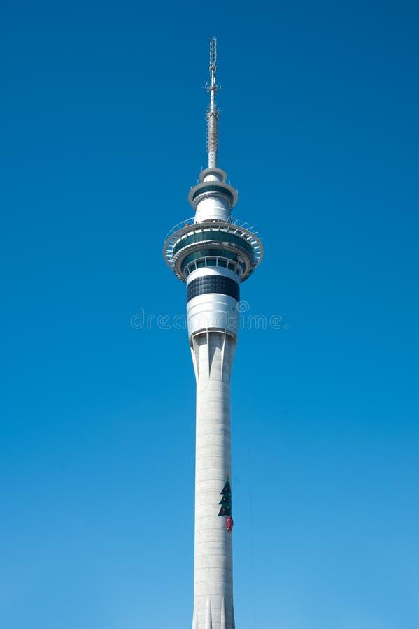 вал skytower рождества стоковое фото rf