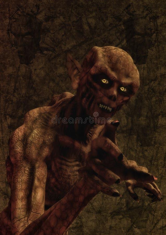 Вампир демона изверга иллюстрация вектора