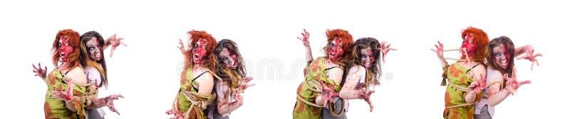 Вампир женщины изолированный на предпосылке стоковая фотография