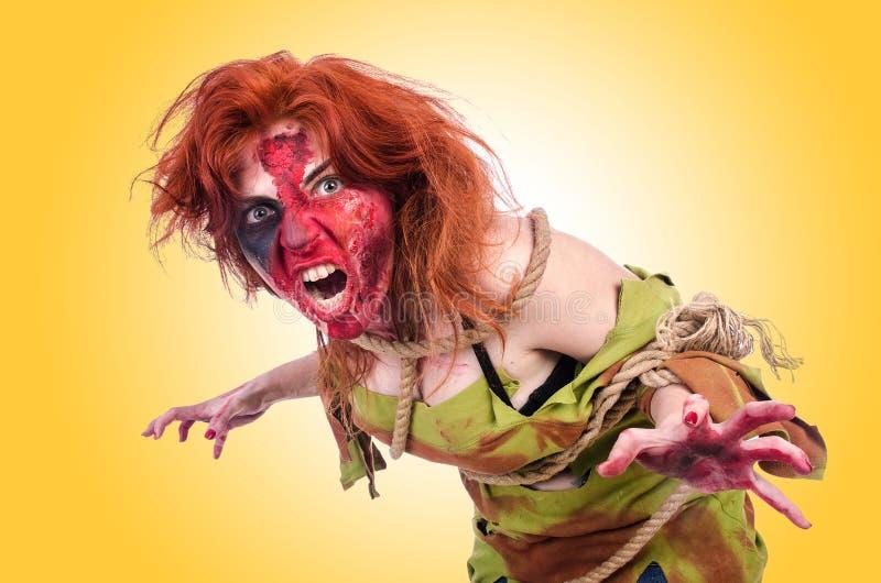 Вампир женщины стоковые фотографии rf