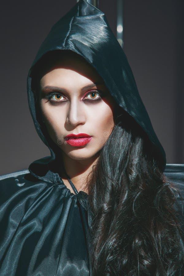 вампир Портрет Helloween стоковое изображение rf