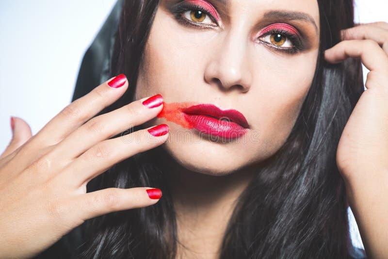вампир Портрет Helloween стоковое фото rf