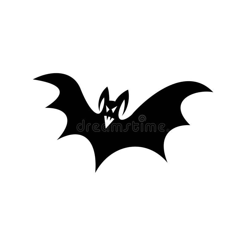 Вампир призрака, призрачный и пугающий силуэт летучей мыши, который нужно приписать к хеллоуину иллюстрация вектора