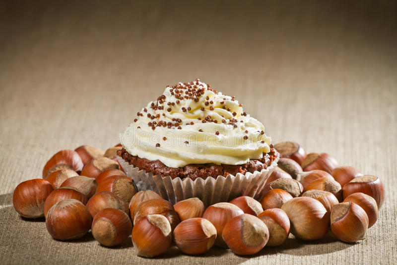 ваниль булочки шоколада cream стоковые изображения rf