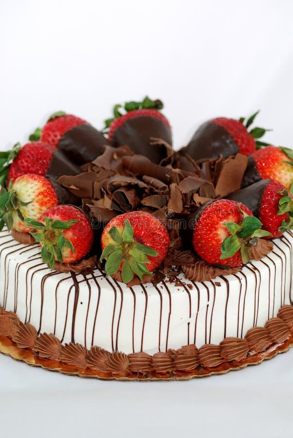 ваниль клубник торта стоковая фотография rf
