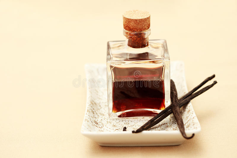 ваниль эфирного масла стоковое фото