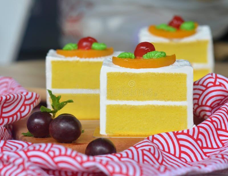 Ванильный торт губки стоковое изображение
