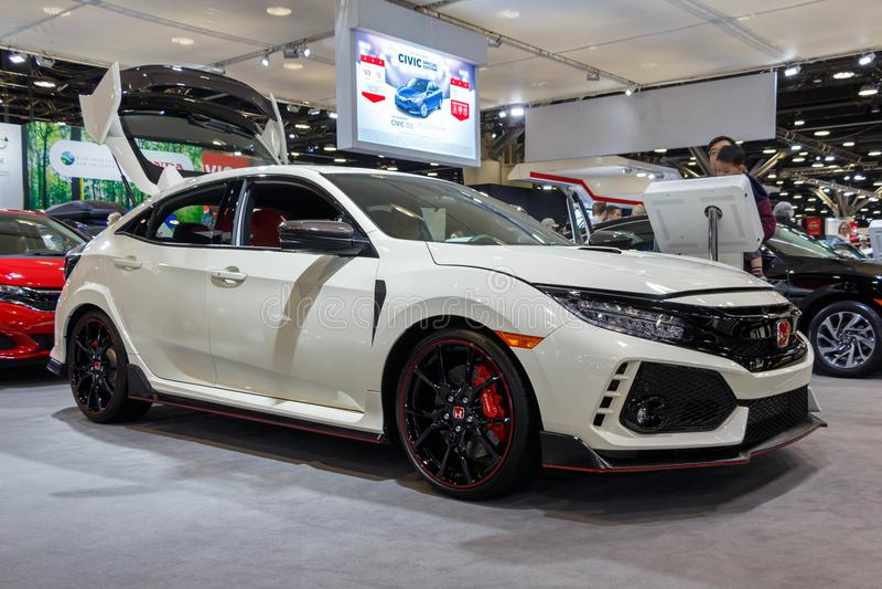 Ванкувер, Канада - март 2018: Honda Civic стоковые фото