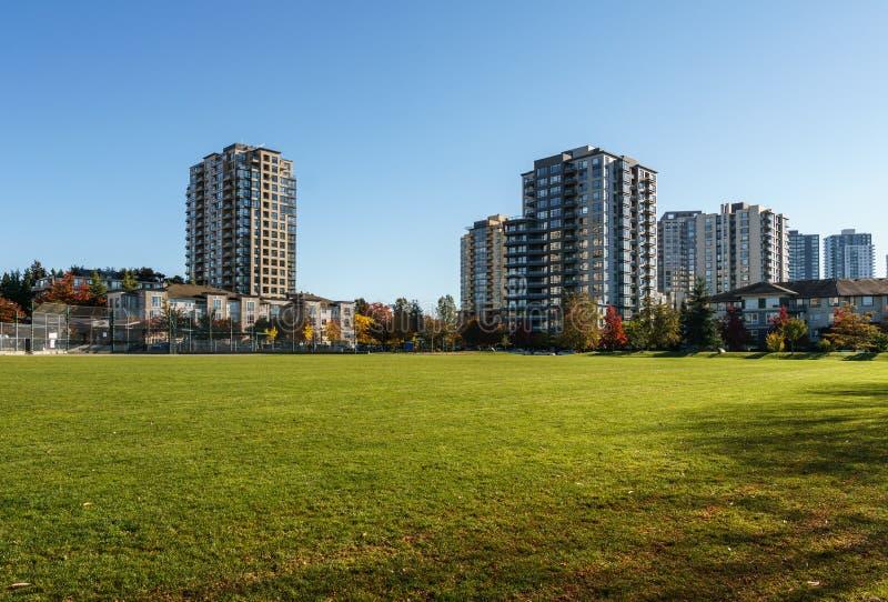 ВАНКУВЕР, КАНАДА - 13-ое октября 2018: парк в жилом районе на день осени стоковая фотография