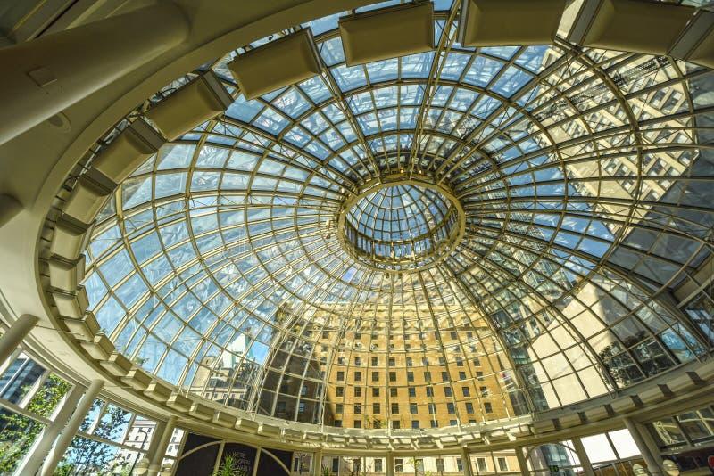 Ванкувер, стеклянный купол, Тихий океан торговый центр центра стоковая фотография rf