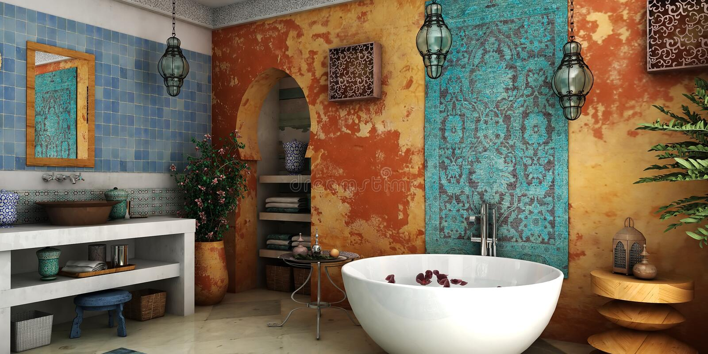 Ванная комната год сбора винограда стоковая фотография rf