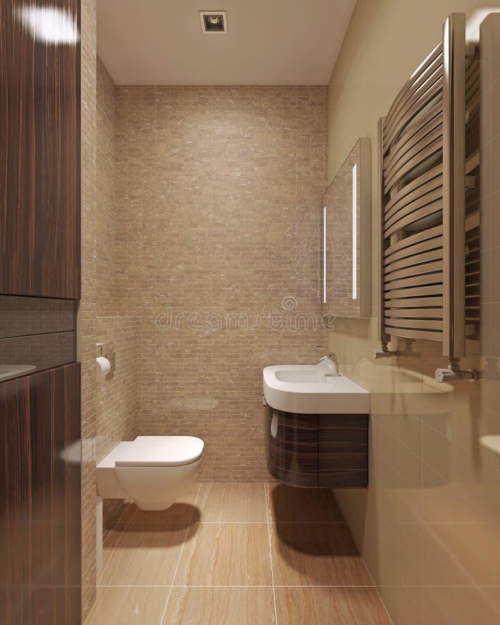 Ванная комната просторной квартиры иллюстрация штока